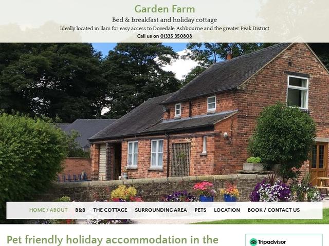 Flynn Garden Farm  Ilam. Ashbourne  Derbyshire