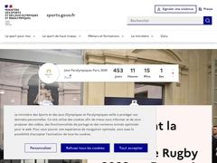Le site du ministère des Sports