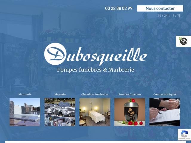 Pompes funèbres, marbrier, chambres funéraires  - Ets Dubosqueille