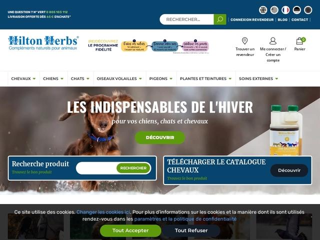 Compléments naturels pour chevaux, chiens, chats - Hilton Herbs