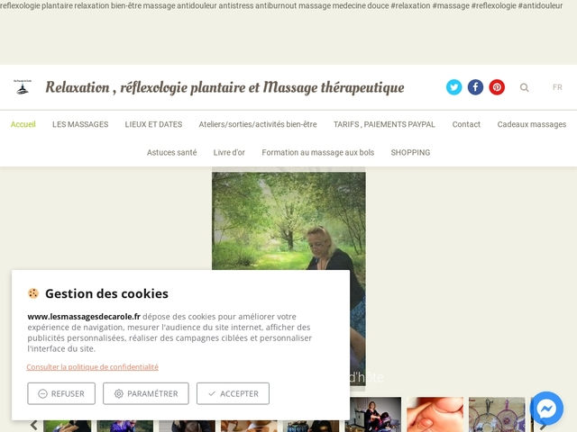 Réflexologie plantaire et massages thérapeutiques à domicile