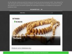 Gelang Tasbih Kayu Cendana Asli Super Wangi Bali Kupang NTT
