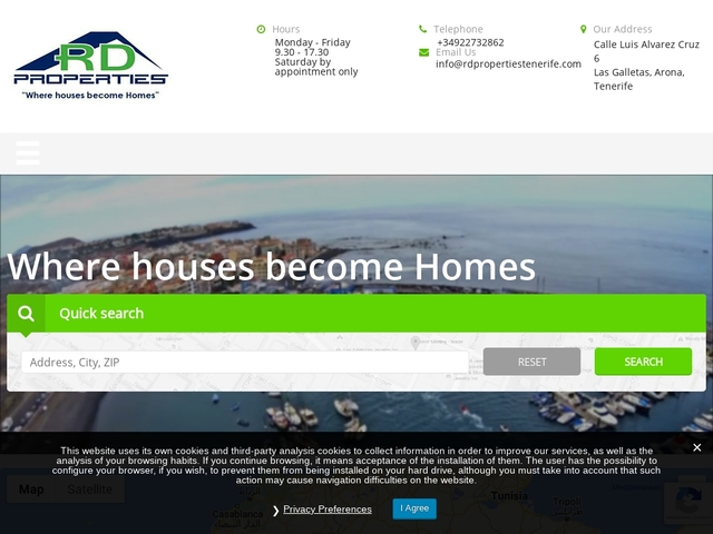 Property in tenerife for rent