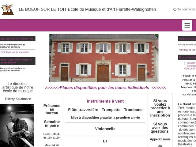 """ECOLE DE MUSIQUE et d'art """"Le bœuf sur le toit"""" à Ferrette"""