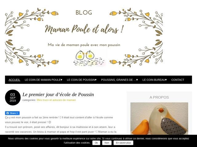 Maman poule et alors ! Blog de maman poule et poussin