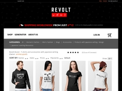 Revolt Brand - T-shirts with japanese writings