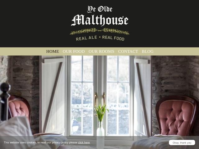 Ye Olde Malthouse Inn, Tintagel, Cornwall, PL34 0DA - 01840 770 461