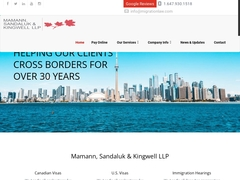 Canadian & U.S Immigration Law Firm - Mamann, Sandaluk & Kingwell LLP