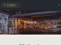 D.W. Alexander: One of The Best Toronto Bars and Speakeasy Lounges
