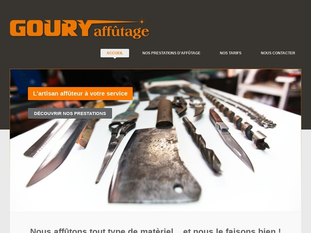 Goury-Affûtage Sarl - (33) - Affûtage outils tranchants.