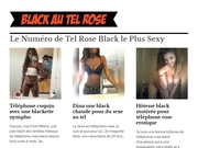 fille black au telephone rose