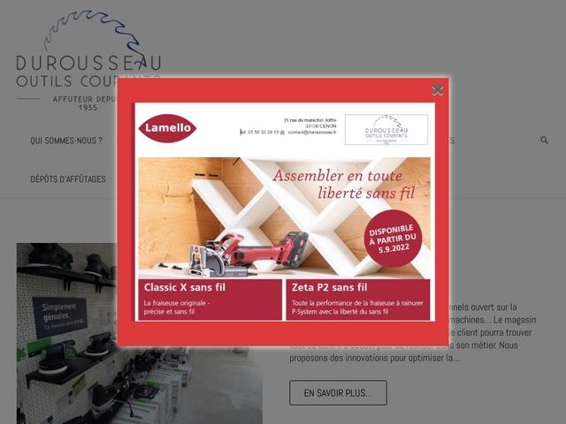Durousseau Outils Coupants sarl - (33) -Fabricant-Affûtage