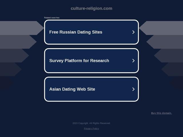 Culture et religion