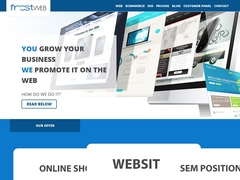 Your new website with FrostWEB!