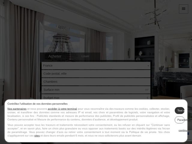 Immobilier de luxe, Paris, vente et location, appartements, maisons
