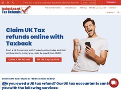 Tax refund and tax rebate UK
