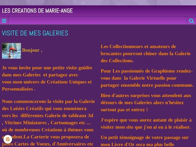 LES CREATIONS DE MARIE-ANGE