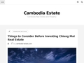 Cambodge immobilier location vente Investir