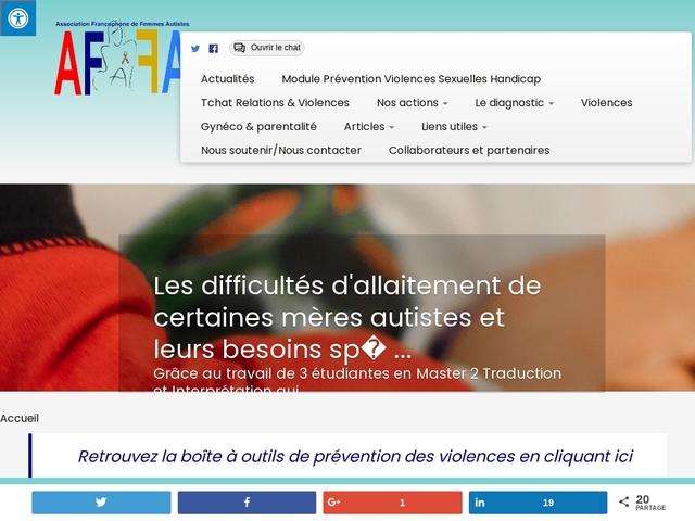 Accueil - AFFA - Association Francophone de Femmes Autistes