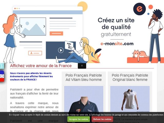 Patriote la Marque ! Polos et tee-shirts français
