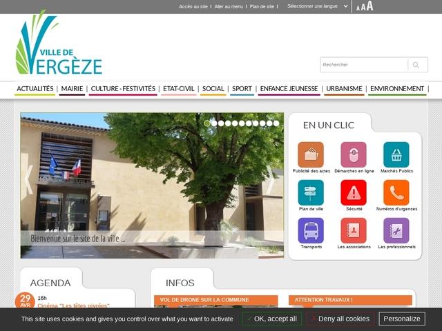 Site officiel dynamique de la ville de Vergèze dans le Gard.