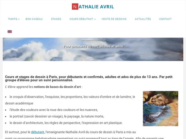 Paris cours de dessin