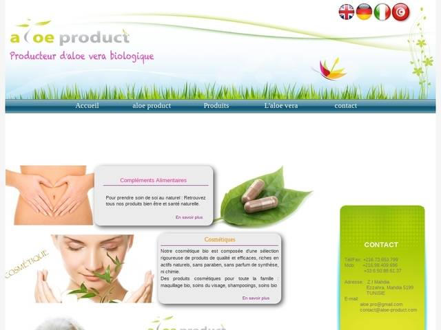 aloe product