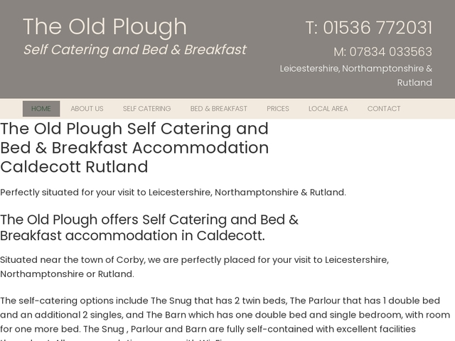 The Old Plough - Caldecott - Leicestershire - England