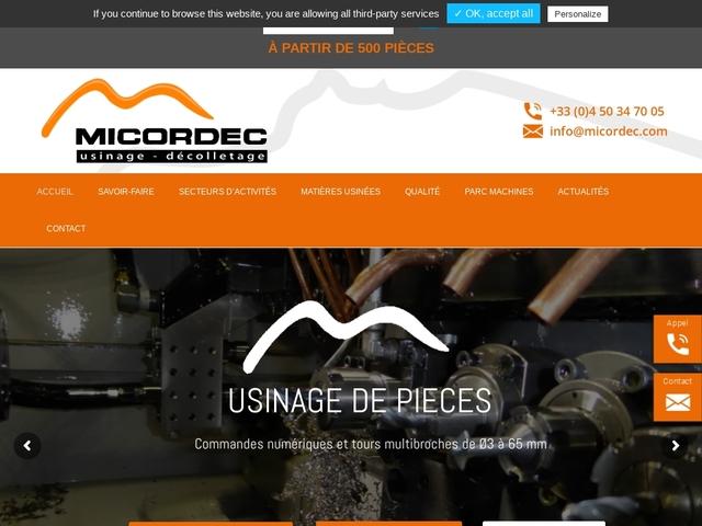 Micordec Sarl - (74)# -Décolletage -Usinage -Multi-Broches