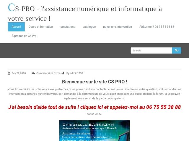 CAZAUX - CSPRO assistance informatique et numérique