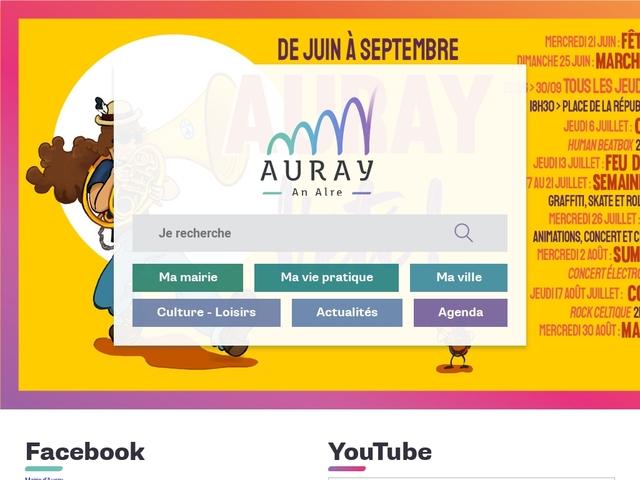 Auray - Site Officiel de la Ville: Accueil