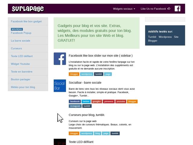 Sur la page.fr