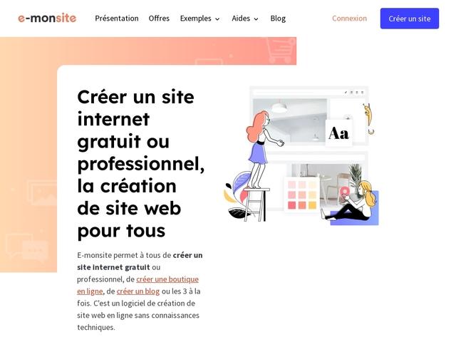 Faire un site avec E-monsite.com