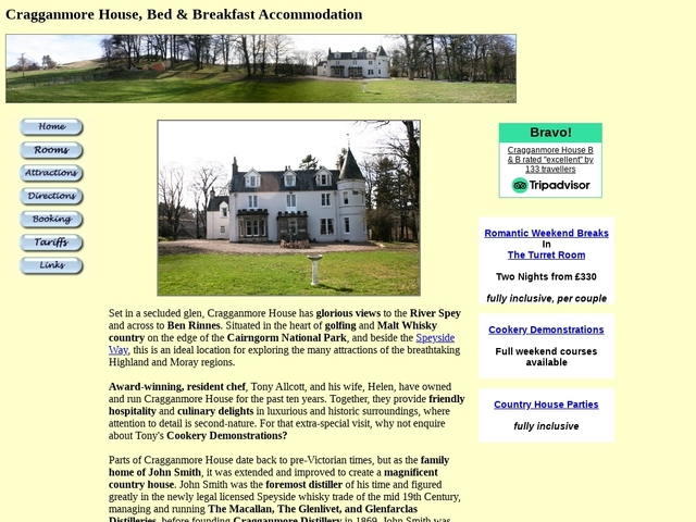 Cragganmore House - AB379AB - Scotland - 01807 500359