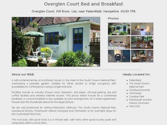 Overglen Court B&B - Hill Brow - Liss - Hampshire - England.