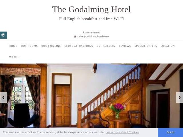 Godalming Hotel 65 Meadrow, Godalming Surrey GU7 3HS.