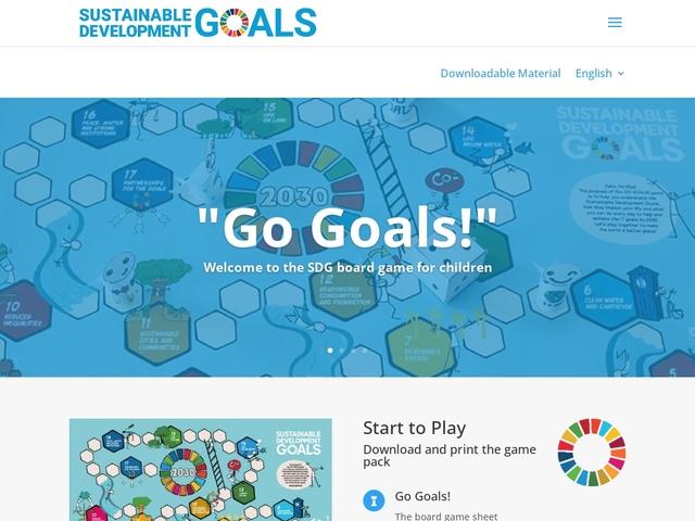 Objectifs planète durable. Jeu de plateau sur les ODD