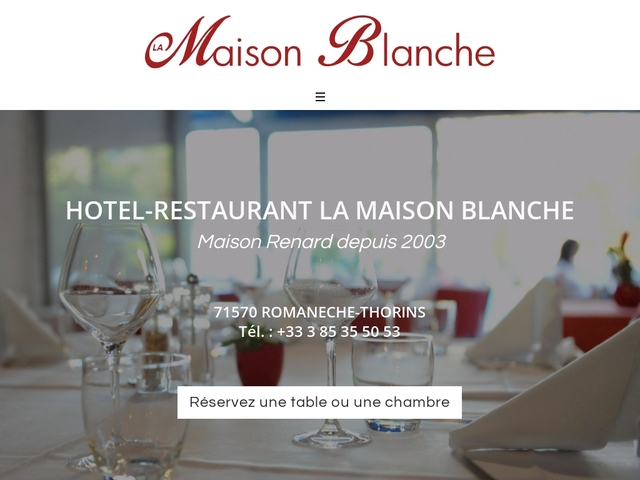 Hôtel-restaurant La maison blanche à Romanèche-Thorins (71)