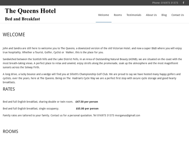 The Queens Hotel - 016973 31373