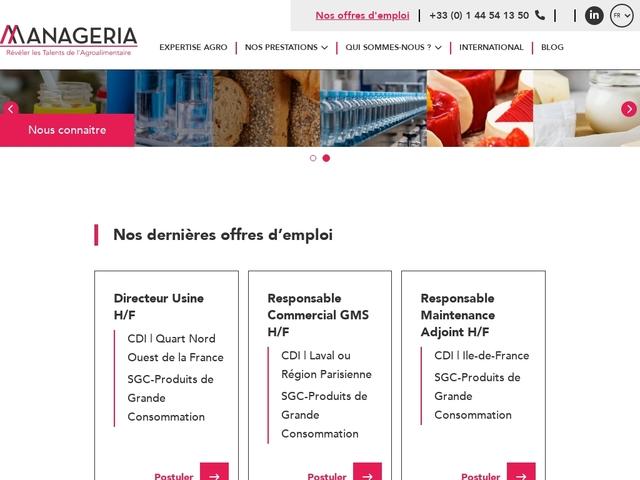 Votre cabinet de recrutement agroalimentaire-Manageria