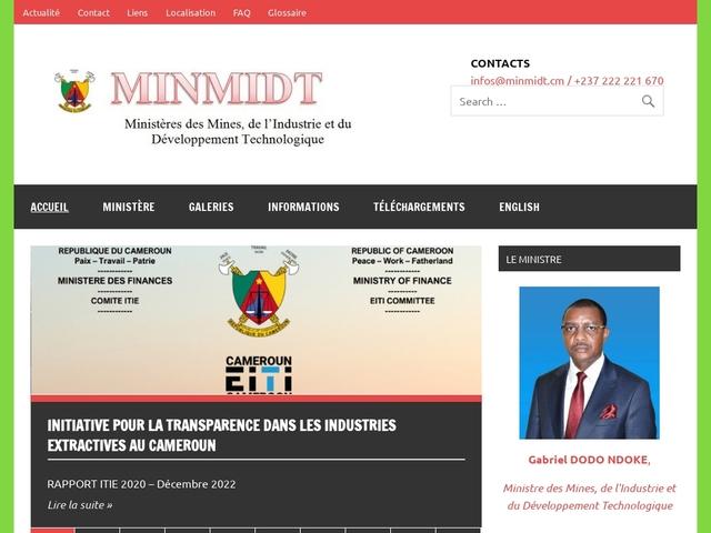 Ministère des mines, de l'industrie et du développement technologique