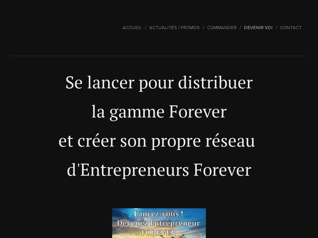Devenir distributeur independant des produits Forever Living Products