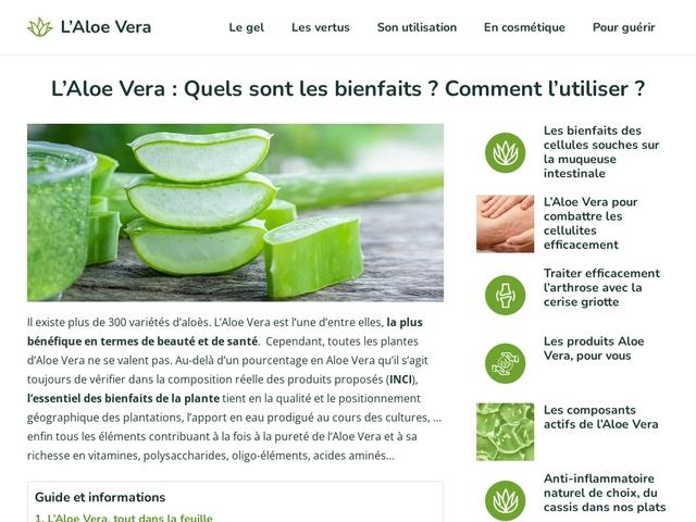 Conseil Aloe Vera