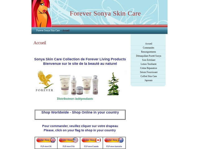 Forever Sonya Skin Care - Accueil