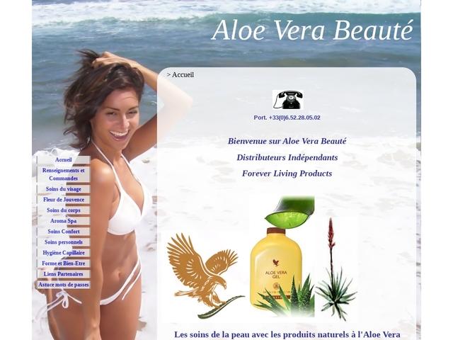 Aloe Vera Beauté - Accueil