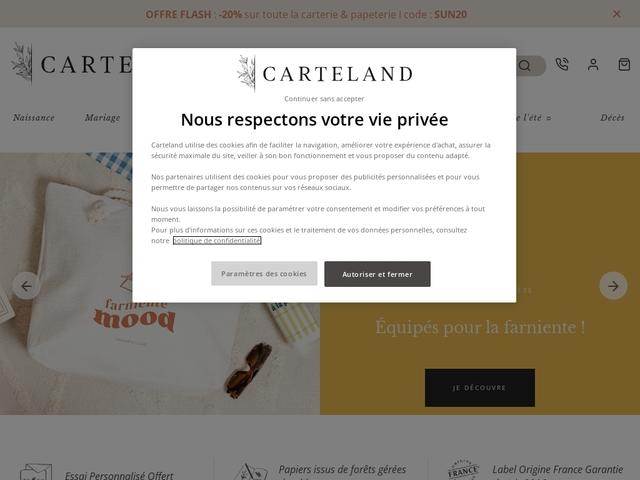 Carteland : faire part, remerciement, carte invitation et livre photo