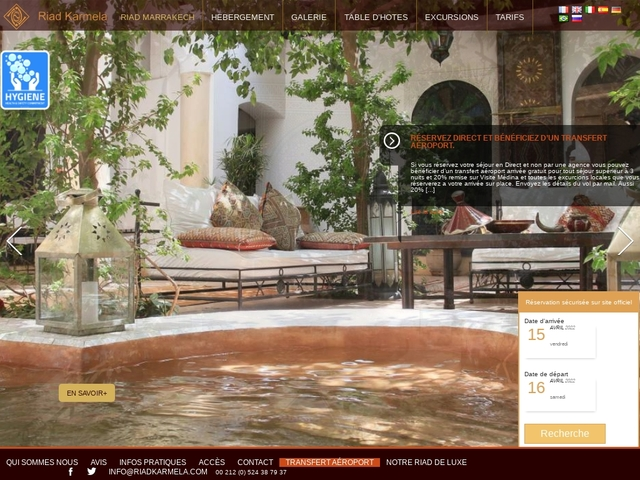 Riad Karmela Promo - Location riad Marrakech medina pas cher