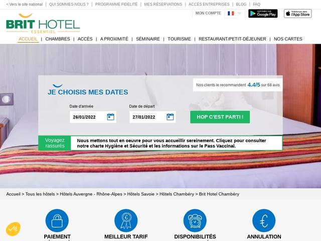 Brit Hotel Chambery, Hotel Aix-les-bains. Hotel 2 étoiles  73 Savoie