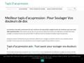 Information sur les tapis d'acupression