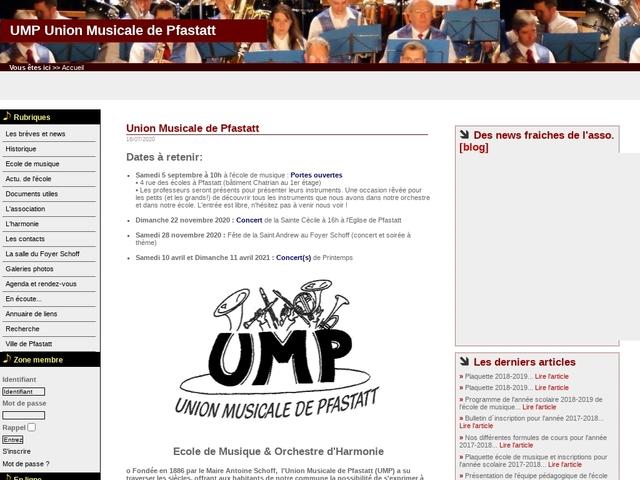 """ECOLE de MUSIQUE de PFASTAT """" Union Musicale ( U.M.P )"""""""